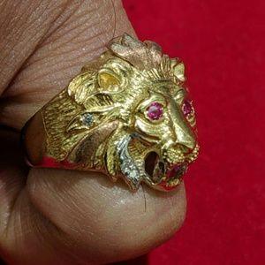 Other - 100% real solid gold lion king men ringsize 8.5